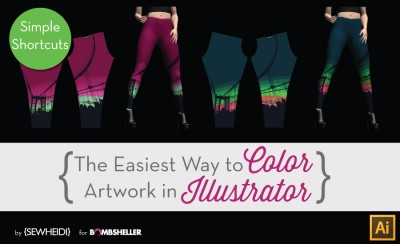 The Easiest Way to Color Artwork in Illustrator {Sew Heidi}