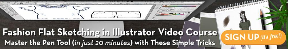 Fashion Flat Sketching in Illustrator Free Mini Video Course {Sew Heidi}