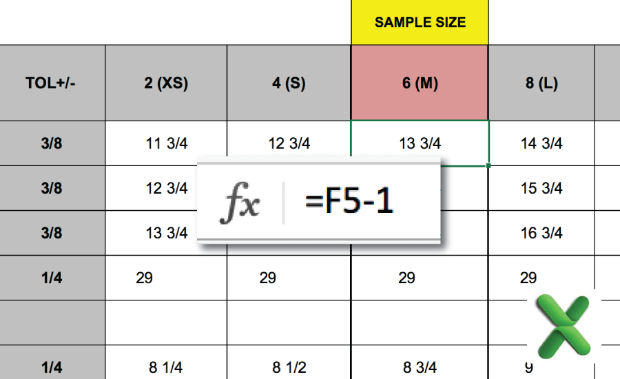 How to calculate your graded spec rules for fashion design tech packs & spec sheets in Excel: The Successful Fashion Designer tutorial by Sew Heidi