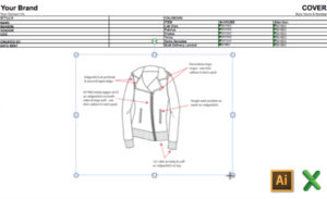 How to Get Fashion Flats from Illustrator into Excel for Tech Packs