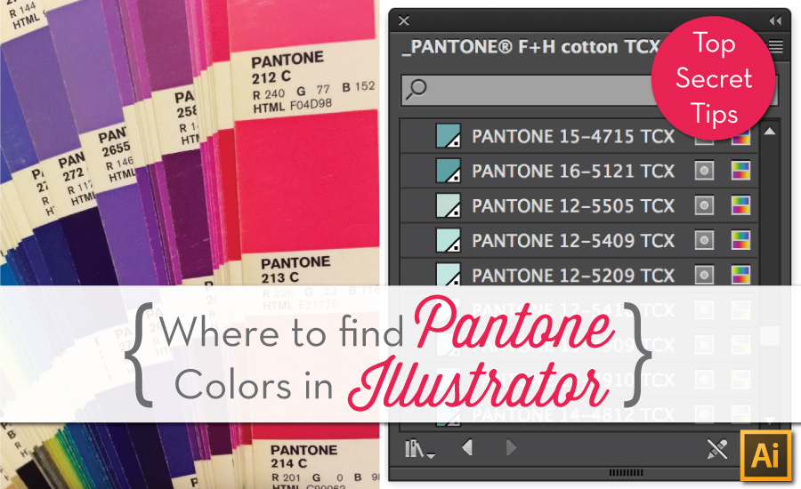 Pantone illustrator for fashion design courses tutorials for Where to buy pantone paint